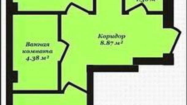 """Двухкомнатная квартира современной планировки на """"Лётчиках"""""""