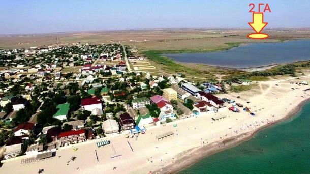 Участок 2 га в с.Штормовое, 1,8км от моря.