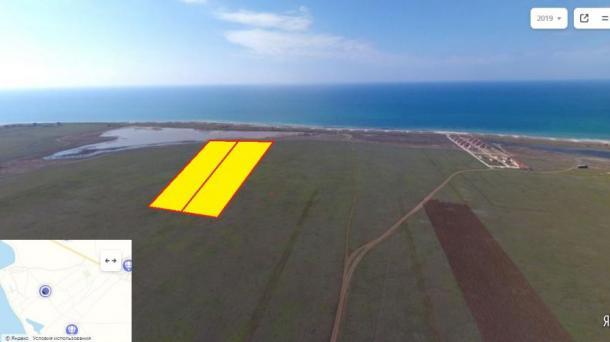 Продам земельный участок 4 гектар на первой линии от моря с. Штормовое