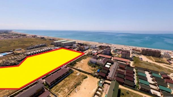 Продам участок 2.23 га в п. Прибрежное 200 м от моря (10км от Евпатории).