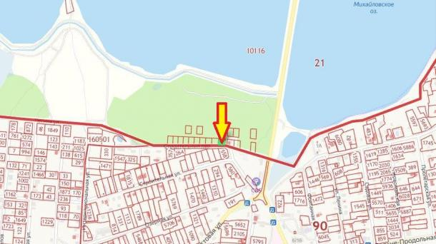 5,78 соток в г.Саки ул. Михайловское шоссе, 6км от моря.